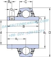 YAR205-2RF SKF Y-bearings