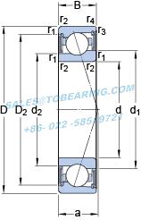 Metric 18mm Width 125mm OD Light Preload Universal Arrangement Single Bearing 15/° Contact Angle ABEC 7-9 Extra Precision SKF 71918 CDGA//P4A Angular Contact Bearing 90mm Bore